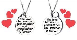grandmother granddaughter necklace grandmother and granddaughter grandson necklace