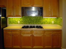 lime green kitchen backsplash with glass mosaic tiles mosaic tile
