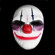 payday 2 the heist joker clown mask costume props halloween mask