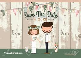 save the date in rustic wedding invitation card and save the date with