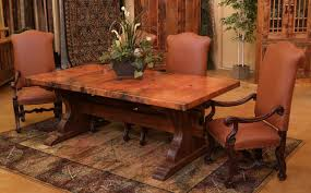 tuscan dining room table tuscan copper trestle dining table farmhouse dining room