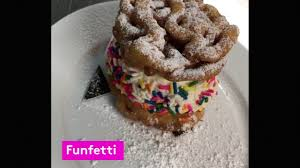 funnel cake ice cream sandwich american cut nyc youtube