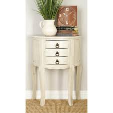 Half Moon Accent Table Homesullivan Kelsey Antique White Tiered Accent Table 40e334 04wh
