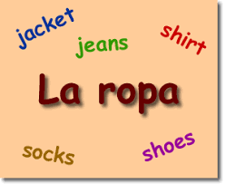 spanish esl esol ell efl games clothes la ropa