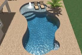 freeform pool designs free swimming pool design software com 003 form with planter