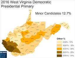 Virginia Map Counties by The West Virginia Democratic Primary Protest Vote And Bernie