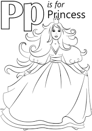 letter princess coloring free printable coloring pages