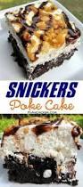 snickers poke cake recipe chocolate cake caramel whipped cream