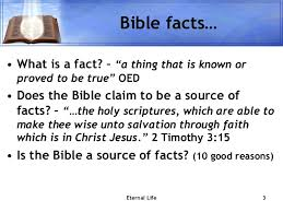 bible facts about eternal