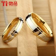 cheap titanium rings images Super deal size 3 14 titanium steel womanand man 39 s wedding rings jpg