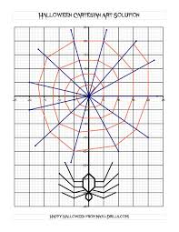 Spider Worksheets Cartesian Art Halloween Spider