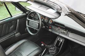 porsche 930 whale tail 1985 porsche 911 carerra cabriolet triple black 930 whale tail