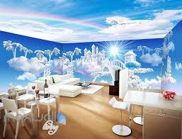entire living room wall murals page 9 idecoroom 3d clouds castle fantacy unicorn wall mural wallpaper paper art print decor idcqw 000344
