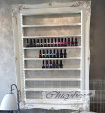 nail polish display rack with led lighting cream shabby chic