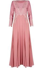 jubah moden jubah dress moden lace zaliqa blossom pink jubah dresses women
