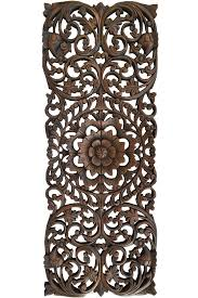 lovely design ideas wood carved wall decor antique balinese panel