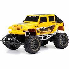 bright rc jeep wrangler bright 1 8 radio function 9 6v 4 door jeep blue