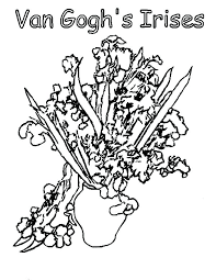 coloring page for van van gogh coloring book plus van coloring book together with