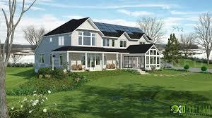 river side 3d house elevation rendering concepts yantram