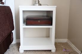 nightstand dazzling white stained wood bedside table design for