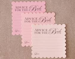 advice cards for bridal shower advice cards advice for the to be fill out