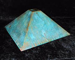 copper lamp shade etsy