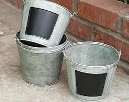 Tin Buckets For Centerpieces by Galvanized Buckets With Chalkboard Galvanized Tin Pail