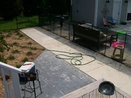Patio Broom by Stamped Border Concrete Pool Deck