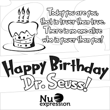 happy birthday dr seuss free coloring page