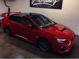 subaru wrx decal 2015 subaru wrx sti vinyl roof wrap premium auto styling