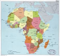 Maps Of Africa by Large Political Map Of Africa With Major Cities And Capitals