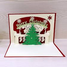 personalized keepsakes 1pcs 3d christmas cards greeting handmade paper card personalized