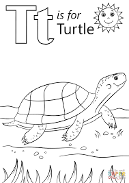 t is for turtle coloring page free printable coloring pages