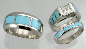 turquoise wedding rings matching wedding sets by hardwick jewelers page 2