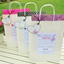 bridesmaid gift bag floral personalised bridesmaid gift bag and card