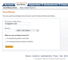how can i create a paypal link that will send money to a specific e