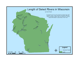Namekagon River Map Uwec Gis 1 Geog 335 Projects
