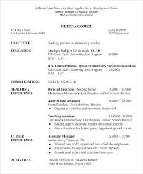 preschool resume template educational resume template sle candidate template for
