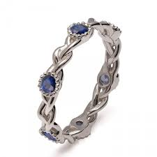 braided band braided sapphire band 18k white gold braided eternity band