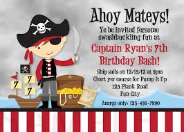 Printable Birthday Party Invitation Cards Printable Birthday Invitations Little Boys Pirate Party Invites