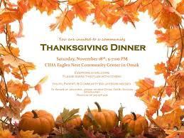 thanksgiving dinner ciha eagles nest community center in omak