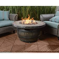 Propane Fire Pits With Glass Rocks by Amazon Com Vineyard Propane Fire Pit 34 65in Dia X 18in H