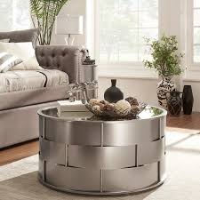 coffee table accents attractive accent coffee table hayes mirror top metal accent