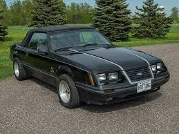 Black Mustang Convertable Black 1984 Ford Mustang Convertible For Sale Mcg Marketplace