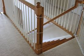 Pictures Of Banisters Installing A Baby Gate Without Drilling Into A Banister Insourcelife