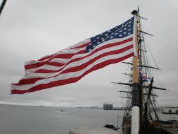 Eagle American Flag File Uscgc Eagle American Flag Jpg Wikimedia Commons