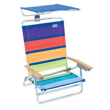 rio folding beach table rio beach folding chair with canopy walmart com
