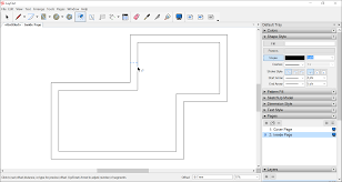 sketchup layout line color offsetting a line or shape sketchup knowledge base