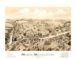 Vintage Map Amazing Vintage Map Of Manchester Ct In 1880 Knowol
