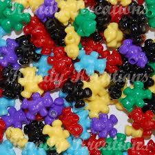 sale 100 teddy bear pony beads for kandi raver kandy dummy clips